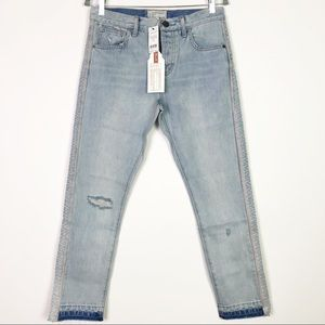 NWT Current/Elliott High Rise Embroidered Jeans